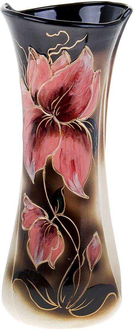Ваза Керамика ручной работы Румба, цвет: черный. 304204304204Ваза из керамики не только станет прекрасным элементом декора помещения, но и сохранит свежесть вашего букета на долгое время. Подобно термосу, керамические сосуды сохраняют воду прохладной даже при высокой внешней температуре. Доказано, в керамической вазе цветы стоят почти в 2 раза дольше.