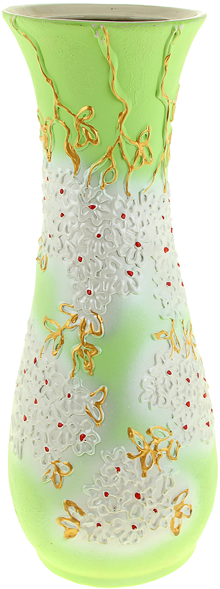 Ваза напольная Керамика ручной работы Осень, цвет: зеленый. 320441320441Это ваза - отличный способ подчеркнуть общий стиль интерьера. Существует множество причин иметь такой предмет дома. Вот лишь некоторые из них: Формирование праздничного настроения. Можно украсить вазу к Новому году гирляндой, тюльпанами на 8 марта, розами на день Святого Валентина, вербой на Пасху. За счёт того, что это заметный элемент интерьера, вы легко и быстро создадите во всём доме праздничное настроение. Заполнение углов, подиумов, ниш. Таким образом можно сделать обстановку более уютной и многогранной. Создание групповой композиции. Если позволяет площадь пространства, разместите несколько ваз так, чтобы они сочетались по стилю или цветовому решению. Это придаст обстановке более завершённый вид. Подходящая форма и стиль этого предмета подчеркнут достоинства дизайна квартиры. Ваза может стать отличным подарком по любому поводу, ведь такой элемент интерьера практичен и способен каждый день создавать хорошее настроение!