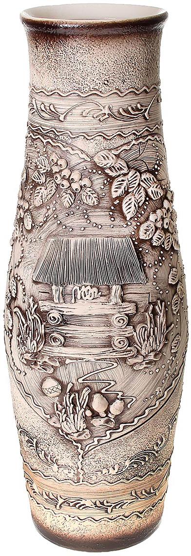 Ваза напольная Керамика ручной работы Афина, цвет: серый. 320560320560Это ваза - отличный способ подчеркнуть общий стиль интерьера. Существует множество причин иметь такой предмет дома. Вот лишь некоторые из них: Формирование праздничного настроения. Можно украсить вазу к Новому году гирляндой, тюльпанами на 8 марта, розами на день Святого Валентина, вербой на Пасху. За счёт того, что это заметный элемент интерьера, вы легко и быстро создадите во всём доме праздничное настроение. Заполнение углов, подиумов, ниш. Таким образом можно сделать обстановку более уютной и многогранной. Создание групповой композиции. Если позволяет площадь пространства, разместите несколько ваз так, чтобы они сочетались по стилю или цветовому решению. Это придаст обстановке более завершённый вид. Подходящая форма и стиль этого предмета подчеркнут достоинства дизайна квартиры. Ваза может стать отличным подарком по любому поводу, ведь такой элемент интерьера практичен и способен каждый день создавать хорошее настроение!