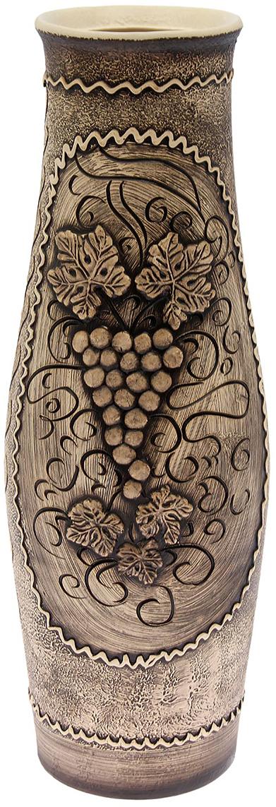 Ваза напольная Керамика ручной работы Афина, цвет: серый. 320561320561Это ваза - отличный способ подчеркнуть общий стиль интерьера. Существует множество причин иметь такой предмет дома. Вот лишь некоторые из них: Формирование праздничного настроения. Можно украсить вазу к Новому году гирляндой, тюльпанами на 8 марта, розами на день Святого Валентина, вербой на Пасху. За счёт того, что это заметный элемент интерьера, вы легко и быстро создадите во всём доме праздничное настроение. Заполнение углов, подиумов, ниш. Таким образом можно сделать обстановку более уютной и многогранной. Создание групповой композиции. Если позволяет площадь пространства, разместите несколько ваз так, чтобы они сочетались по стилю или цветовому решению. Это придаст обстановке более завершённый вид. Подходящая форма и стиль этого предмета подчеркнут достоинства дизайна квартиры. Ваза может стать отличным подарком по любому поводу, ведь такой элемент интерьера практичен и способен каждый день создавать хорошее настроение!