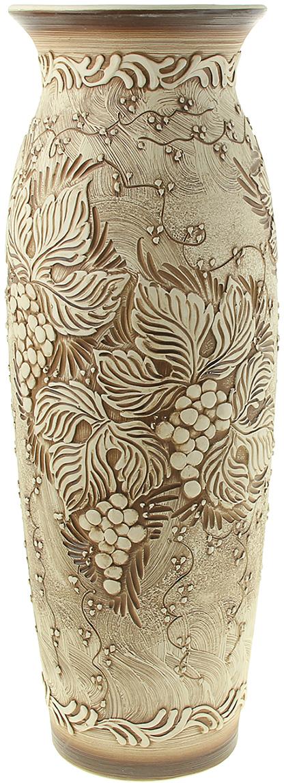Ваза напольная Керамика ручной работы Луиза, цвет: бежевый. 320728 ваза керамика ручной работы греческая цвет бежевый малая