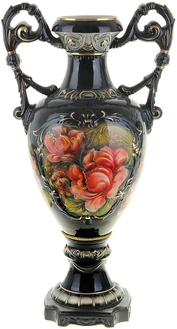Ваза напольная Керамика ручной работы Флорена, цвет: черный флорена косметика в москве