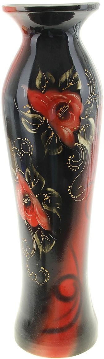 Ваза напольная Керамика ручной работы Азиза, цвет: черный, хохлома ваза 330 210мм хохлома 856479