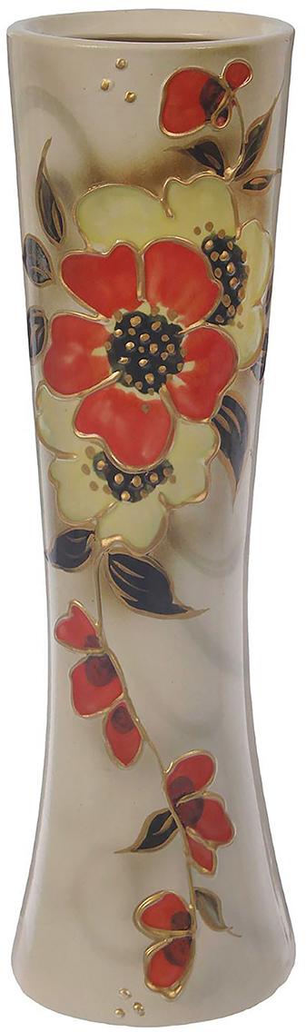 Ваза Керамика ручной работы Марика-Росса, цвет: белый. 748768748768Не знаете чем разнообразить надоевший интерьер? Шикарная роспись этих настольных ваз впишется в любое помещение. Подарите такую вазу близкому человеку на любой праздник, и он останется доволен.