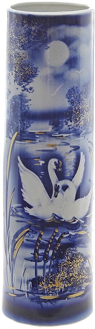 Ваза Керамика ручной работы Максимус, цвет: синий749041Не знаете чем разнообразить надоевший интерьер? Шикарная роспись этих настольных ваз впишется в любое помещение. Подарите такую вазу близкому человеку на любой праздник, и он останется доволен.