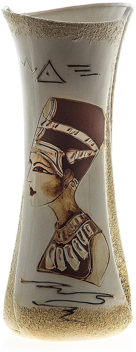 Ваза Керамика ручной работы Румба, цвет: коричневый. 749050749050Ваза из керамики не только станет прекрасным элементом декора помещения, но и сохранит свежесть вашего букета на долгое время. Подобно термосу, керамические сосуды сохраняют воду прохладной даже при высокой внешней температуре. Доказано, в керамической вазе цветы стоят почти в 2 раза дольше.