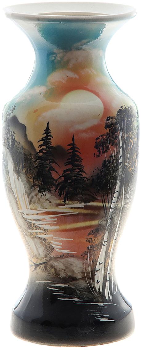 Ваза Керамика ручной работы Себастьяна, цвет: черный749055Ваза из керамики не только станет прекрасным элементом декора помещения, но и сохранит свежесть вашего букета на долгое время. Подобно термосу, керамические сосуды сохраняют воду прохладной даже при высокой внешней температуре. Доказано, в керамической вазе цветы стоят почти в 2 раза дольше.
