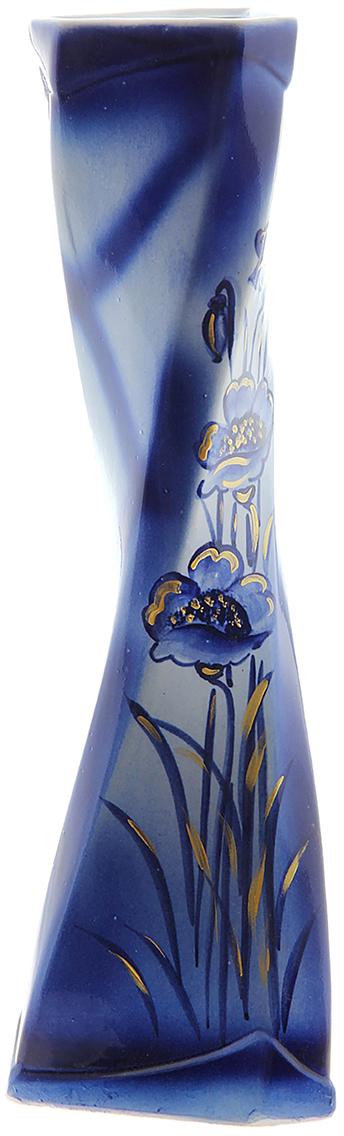 Ваза Керамика ручной работы Кетана, цвет: синий749075Не знаете чем разнообразить надоевший интерьер? Шикарная роспись этих настольных ваз впишется в любое помещение. Подарите такую вазу близкому человеку на любой праздник, и он останется доволен.