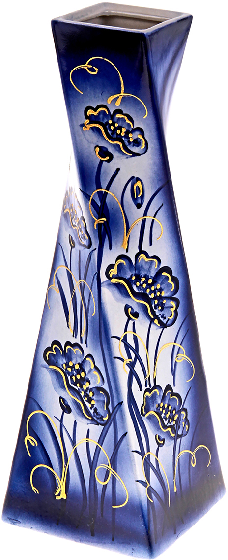 Ваза Керамика ручной работы Эквилибриум, цвет: синий, большая. 749078749078Ваза из керамики не только станет прекрасным элементом декора помещения, но и сохранит свежесть вашего букета на долгое время. Подобно термосу, керамические сосуды сохраняют воду прохладной даже при высокой внешней температуре. Доказано, в керамической вазе цветы стоят почти в 2 раза дольше.