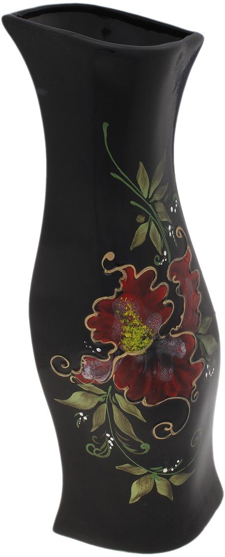 Ваза Керамика ручной работы Натали, цвет: черный, глазурь. 749103749103Не знаете чем разнообразить надоевший интерьер? Шикарная роспись этих настольных ваз впишется в любое помещение. Подарите такую вазу близкому человеку на любой праздник, и он останется доволен.