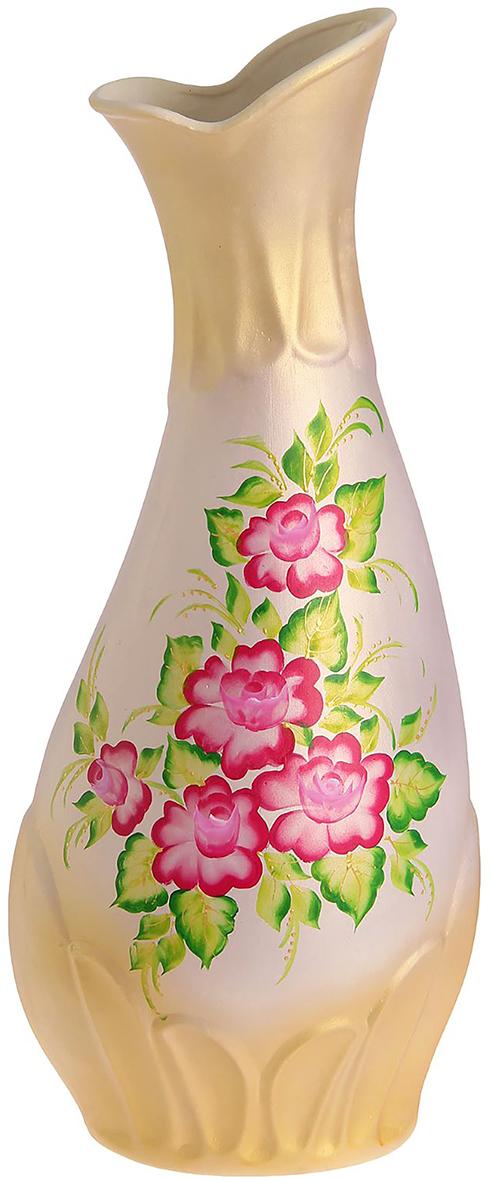 Ваза напольная Керамика ручной работы Верона, цвет: бежевый, художественная роспись749113Ваза напольная Верона художественная. роспись, акрил - отличный способ подчеркнуть общий стиль интерьера. Существует множество причин иметь такой предмет дома. Вот лишь некоторые из них: Формирование праздничного настроения. Можно украсить вазу к Новому году гирляндой, тюльпанами на 8 марта, розами на день Святого Валентина, вербой на Пасху. За счёт того, что это заметный элемент интерьера, вы легко и быстро создадите во всём доме праздничное настроение. Заполнение углов, подиумов, ниш. Таким образом можно сделать обстановку более уютной и многогранной. Создание групповой композиции. Если позволяет площадь пространства, разместите несколько ваз так, чтобы они сочетались по стилю или цветовому решению. Это придаст обстановке более завершённый вид. Подходящая форма и стиль этого предмета подчеркнут достоинства дизайна квартиры. Ваза может стать отличным подарком по любому поводу, ведь такой элемент интерьера практичен и способен каждый день создавать хорошее настроение!