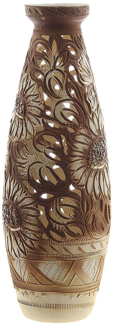 Ваза Керамика ручной работы Юность, цвет: коричневый749114Ваза из керамики не только станет прекрасным элементом декора помещения, но и сохранит свежесть вашего букета на долгое время. Подобно термосу, керамические сосуды сохраняют воду прохладной даже при высокой внешней температуре. Доказано, в керамической вазе цветы стоят почти в 2 раза дольше.