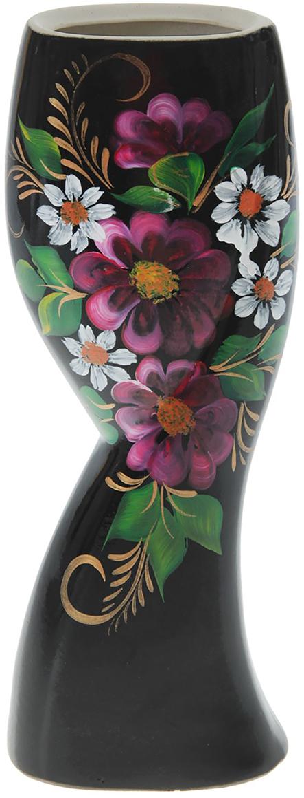Ваза Керамика ручной работы Камелия, цвет: черный749138Не знаете чем разнообразить надоевший интерьер? Шикарная роспись этих настольных ваз впишется в любое помещение. Подарите такую вазу близкому человеку на любой праздник, и он останется доволен.