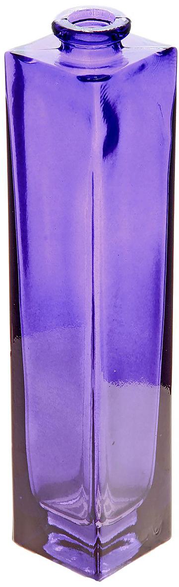 Ваза Evis Нарцисс, цвет: фиолетовый, 0,45 л758444Ваза - не просто сосуд для букета, а украшение убранства. Поставьте в неё цветы или декоративные веточки, и эффектный интерьерный акцент готов! Стеклянный аксессуар добавит помещению лёгкости. Ваза Нарцисс, фиолетовая, прозрачная, 0,45 л преобразит пространство и как самостоятельный элемент декора. Наполните интерьер уютом! Каждая ваза выдувается мастером. Второй точно такой же не встретить. А случайный пузырёк воздуха или застывшая стеклянная капелька на горлышке лишь подчёркивают её уникальность.