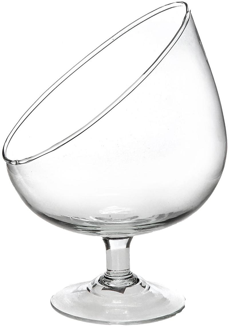 Ваза-бокал Evis Анабель, косой срез, 0,84 л ваза бокал evis бренди высота 11 см
