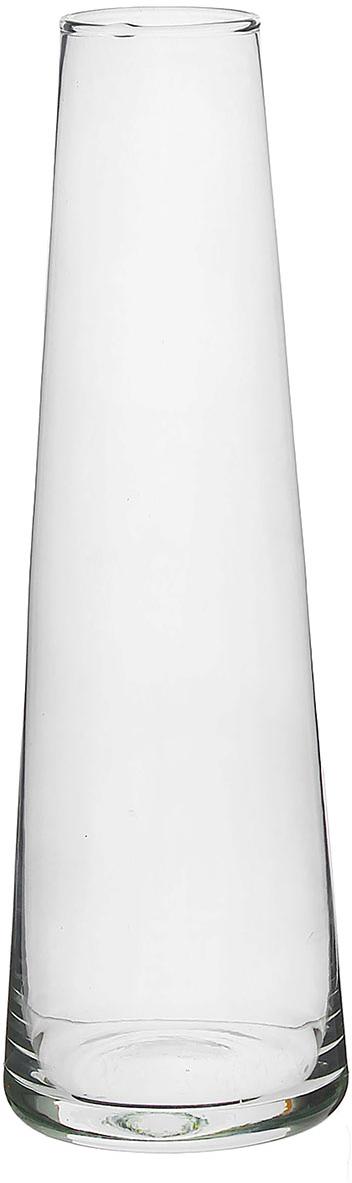 Ваза Evis Коническая, 1 л758571Воплотите в жизнь самые смелые дизайнерские идеи по украшению дома! Ваза из прозрачного стекла - основа для вашего творчества. Насыпьте в неё цветной песок, камушки, ракушки или другой декор. Создавайте восхитительные интерьерные композиции из цветов и зелени. Ваза Коническая 1 л станет незабываемым подарком, если поместить в неё конфеты или другие сладости. Дайте волю фантазии! Каждая ваза выдувается мастером - вы не найдёте двух совершенно одинаковых. А случайный пузырёк воздуха или застывшая стеклянная капелька на горлышке лишь подчёркивают её уникальность.