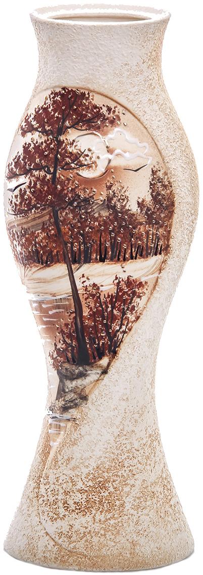 Ваза Керамика ручной работы Дольче Вэлла, цвет: коричневый. 774497774497Не знаете чем разнообразить надоевший интерьер? Шикарная роспись этих настольных ваз впишется в любое помещение. Подарите такую вазу близкому человеку на любой праздник, и он останется доволен.