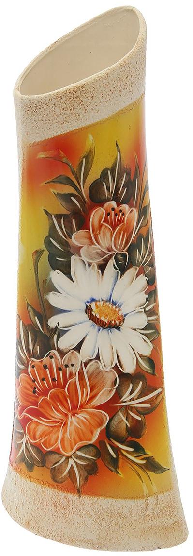 """Ваза """"Симфония"""", выполненная из керамики, не только станет прекрасным элементом декора помещения, но и сохранит свежесть вашего букета на долгое время. Подобно термосу, керамические сосуды сохраняют воду прохладной даже при высокой внешней температуре. Доказано, в керамической вазе цветы стоят почти в 2 раза дольше."""