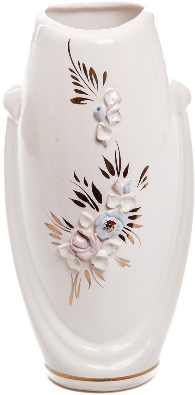 Ваза Керамика ручной работы Калипсо, цвет: белый. 774539774539Не знаете чем разнообразить надоевший интерьер? Шикарная роспись этих настольных ваз впишется в любое помещение. Подарите такую вазу близкому человеку на любой праздник, и он останется доволен.