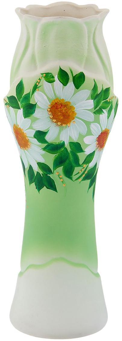 Ваза Керамика ручной работы Азалия, цвет: зеленый, средняя. 774599774599Ваза из керамики не только станет прекрасным элементом декора помещения, но и сохранит свежесть вашего букета на долгое время. Подобно термосу, керамические сосуды сохраняют воду прохладной даже при высокой внешней температуре. Доказано, в керамической вазе цветы стоят почти в 2 раза дольше.