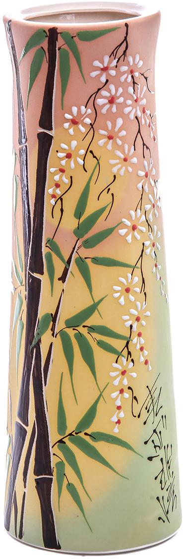 Ваза Керамика ручной работы Элита, цвет: розовый. 774751774751Ваза Элита бамбук украсит любую квартиру, дачу или офис. Преподнести её в качестве подарка друзьям или близким – отличная идея. Необычный дизайн и расцветка может вписаться в интерьер или стать его ярким, уникальным акцентом. Особые свойства керамики делают вазы из этого материала очень популярными. Цветы простоят дольше, потому что керамика отлично регулирует температуру. Вода останется прохладной даже при высокой температуре в помещении.