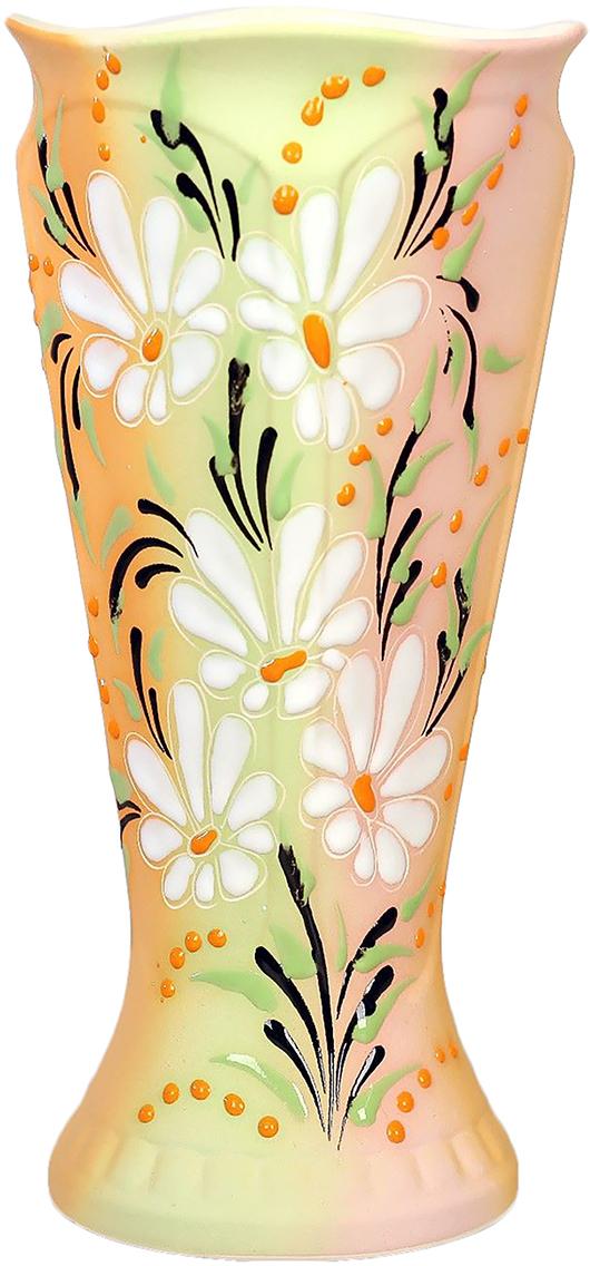 Ваза Керамика ручной работы Модерн, цвет: розовый774773Не знаете чем разнообразить надоевший интерьер? Шикарная роспись этих настольных ваз впишется в любое помещение. Подарите такую вазу близкому человеку на любой праздник, и он останется доволен.