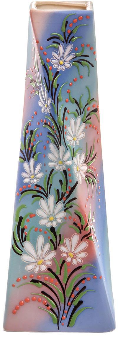 Ваза Керамика ручной работы Эквилибриум, цвет: синий. 774774774774Не знаете чем разнообразить надоевший интерьер? Шикарная роспись этих настольных ваз впишется в любое помещение. Подарите такую вазу близкому человеку на любой праздник, и он останется доволен.