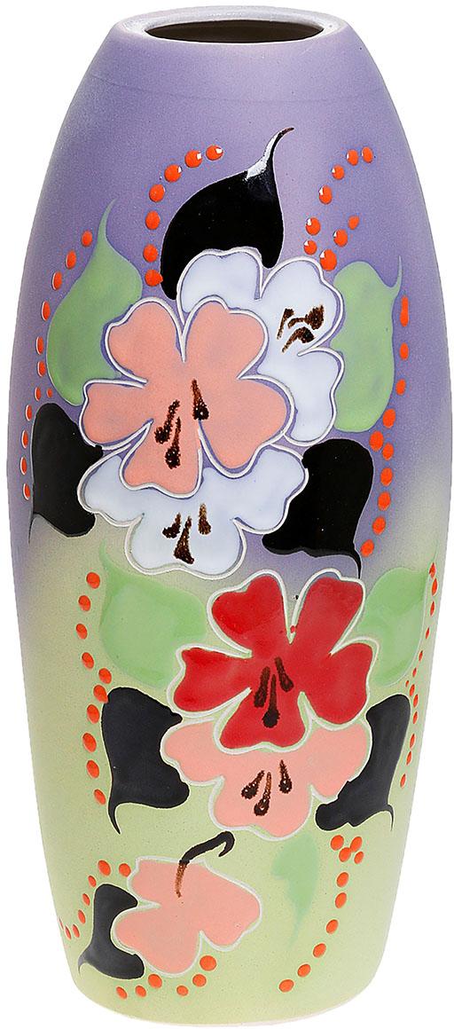 Ваза Керамика ручной работы Евро, цвет: фиолетовый774781Ваза Евро ветка яблони, глазурь украсит любую квартиру, дачу или офис. Преподнести её в качестве подарка друзьям или близким – отличная идея. Необычный дизайн и расцветка может вписаться в интерьер или стать его ярким, уникальным акцентом. Особые свойства керамики делают вазы из этого материала очень популярными. Цветы простоят дольше, потому что керамика отлично регулирует температуру. Вода останется прохладной даже при высокой температуре в помещении.