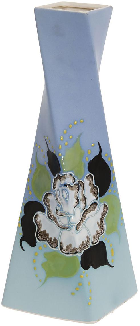 Ваза Керамика ручной работы Эквилибриум, цвет: голубой774811Не знаете чем разнообразить надоевший интерьер? Шикарная роспись этих настольных ваз впишется в любое помещение. Подарите такую вазу близкому человеку на любой праздник, и он останется доволен.