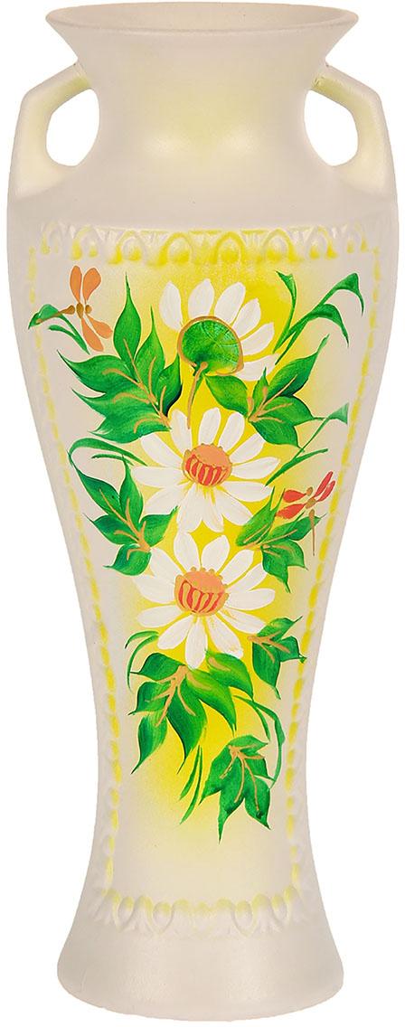 Ваза Керамика ручной работы Рафаэль, цвет: белый, роспись художественная776270Ваза из керамики не только станет прекрасным элементом декора помещения, но и сохранит свежесть вашего букета на долгое время. Подобно термосу, керамические сосуды сохраняют воду прохладной даже при высокой внешней температуре. Доказано, в керамической вазе цветы стоят почти в 2 раза дольше.
