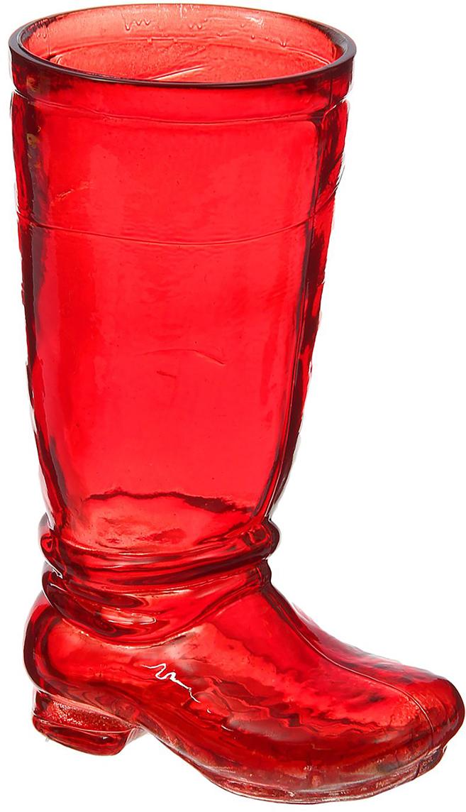 Ваза Evis Ботфорт, цвет: красный, 0,46 л782999Ваза - не просто сосуд для букета, а украшение убранства. Поставьте в неё цветы или декоративные веточки, и эффектный интерьерный акцент готов! Стеклянный аксессуар добавит помещению лёгкости.Ваза Ботфорт красная, 0,46 л преобразит пространство и как самостоятельный элемент декора. Наполните интерьер уютом!Каждая ваза выдувается мастером. Второй точно такой же не встретить. А случайный пузырёк воздуха или застывшая стеклянная капелька на горлышке лишь подчёркивают её уникальность.