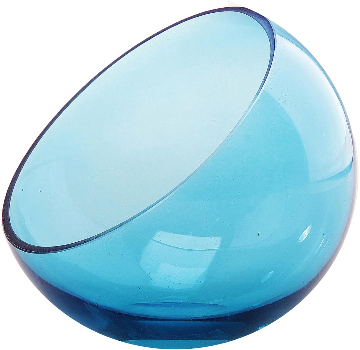Ваза Evis Анабель, цвет: голубой, 0,8 л783072Ваза - не просто сосуд для букета, а украшение убранства. Поставьте в неё цветы или декоративные веточки, и эффектный интерьерный акцент готов! Стеклянный аксессуар добавит помещению лёгкости. Ваза Анабель 0,8 л преобразит пространство и как самостоятельный элемент декора. Наполните интерьер уютом! Каждая ваза выдувается мастером. Второй точно такой же не встретить. А случайный пузырёк воздуха или застывшая стеклянная капелька на горлышке лишь подчёркивают её уникальность.