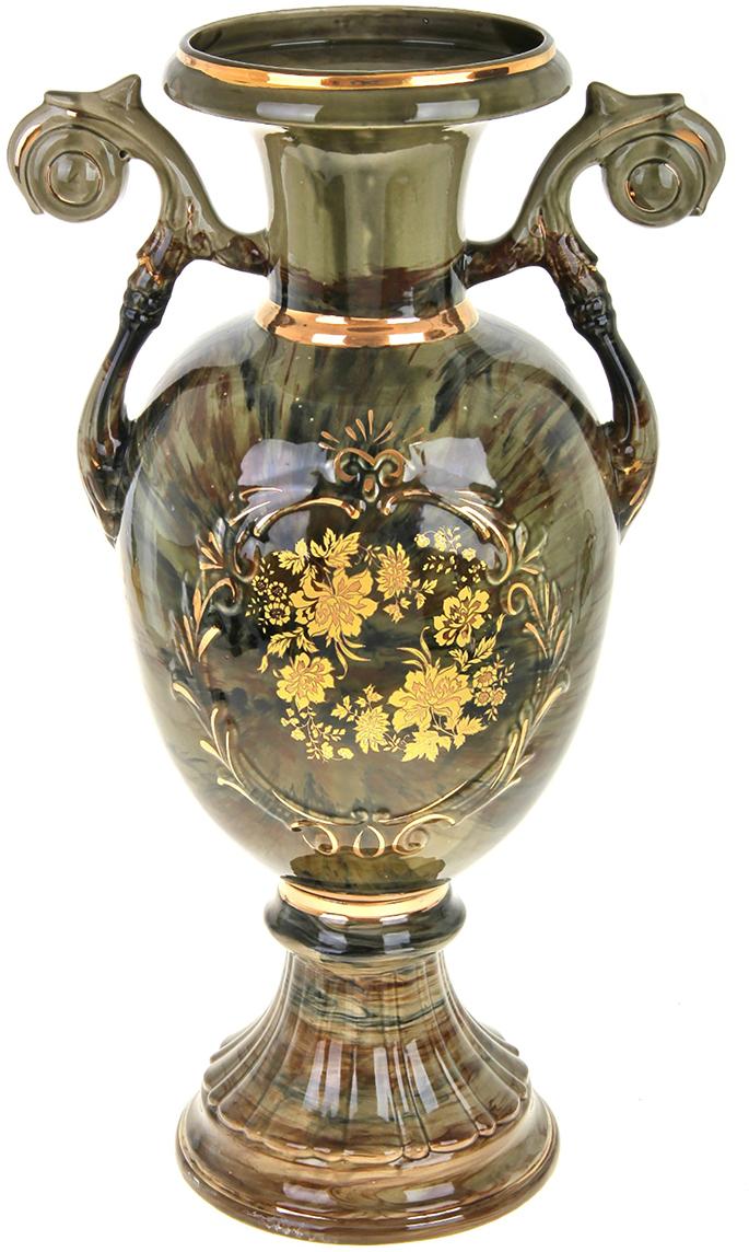 Ваза напольная Керамика ручной работы Венера, цвет: зеленый788001Это ваза - отличный способ подчеркнуть общий стиль интерьера. Существует множество причин иметь такой предмет дома. Вот лишь некоторые из них: Формирование праздничного настроения. Можно украсить вазу к Новому году гирляндой, тюльпанами на 8 марта, розами на день Святого Валентина, вербой на Пасху. За счёт того, что это заметный элемент интерьера, вы легко и быстро создадите во всём доме праздничное настроение. Заполнение углов, подиумов, ниш. Таким образом можно сделать обстановку более уютной и многогранной. Создание групповой композиции. Если позволяет площадь пространства, разместите несколько ваз так, чтобы они сочетались по стилю или цветовому решению. Это придаст обстановке более завершённый вид. Подходящая форма и стиль этого предмета подчеркнут достоинства дизайна квартиры. Ваза может стать отличным подарком по любому поводу, ведь такой элемент интерьера практичен и способен каждый день создавать хорошее настроение!