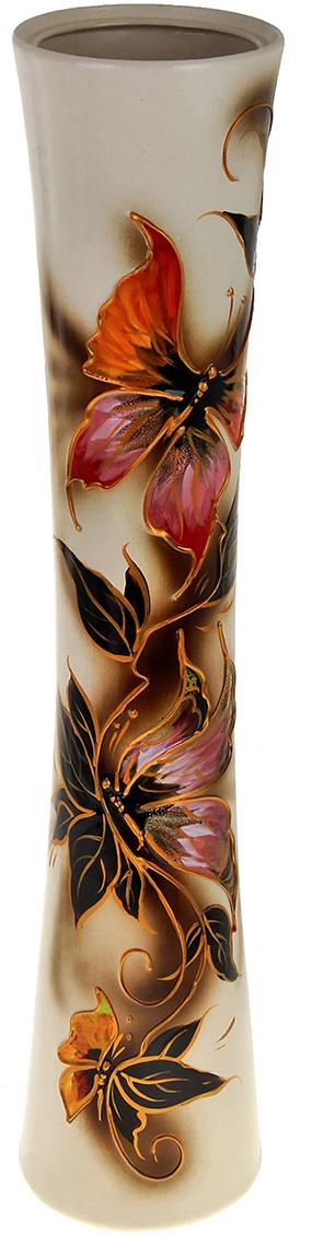 Ваза напольная Керамика ручной работы Кубок, цвет: белый. 788014788014Это ваза - отличный способ подчеркнуть общий стиль интерьера. Существует множество причин иметь такой предмет дома. Вот лишь некоторые из них: Формирование праздничного настроения. Можно украсить вазу к Новому году гирляндой, тюльпанами на 8 марта, розами на день Святого Валентина, вербой на Пасху. За счёт того, что это заметный элемент интерьера, вы легко и быстро создадите во всём доме праздничное настроение. Заполнение углов, подиумов, ниш. Таким образом можно сделать обстановку более уютной и многогранной. Создание групповой композиции. Если позволяет площадь пространства, разместите несколько ваз так, чтобы они сочетались по стилю или цветовому решению. Это придаст обстановке более завершённый вид. Подходящая форма и стиль этого предмета подчеркнут достоинства дизайна квартиры. Ваза может стать отличным подарком по любому поводу, ведь такой элемент интерьера практичен и способен каждый день создавать хорошее настроение!