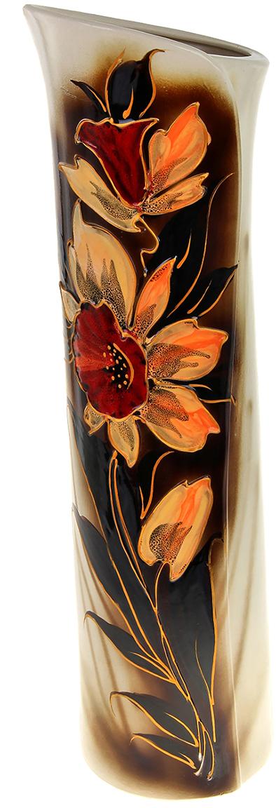 Ваза напольная Керамика ручной работы Свиток, цвет: коричневый788015Напольную вазу не встретишь в каждом доме. Только хозяева, ценящие элегантность и уют, покупают домой эти стильные предметы интерьера. Ваза напольная Свиток – прекрасный экземпляр, чтоб сделать пространство вашей квартиры, дачи или офиса запоминающимся. Она будет отлично смотреться как с цветами, так и в качестве отдельного элемента декора.