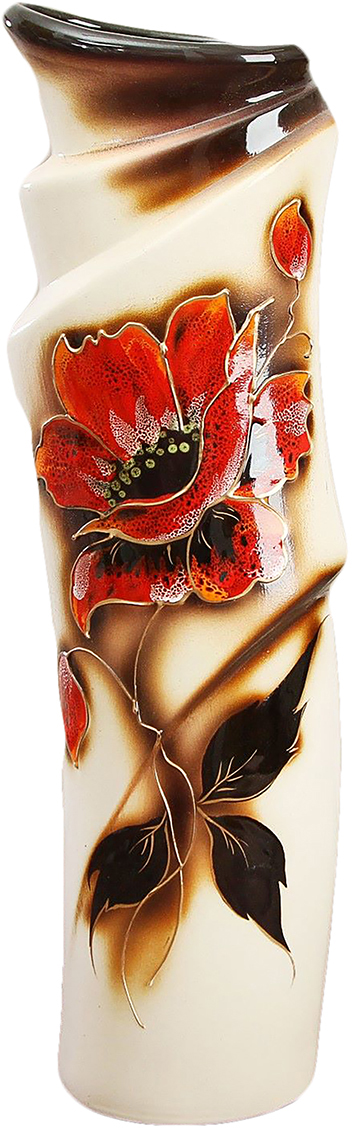 Ваза Керамика ручной работы Иллюзия, цвет: коричневый788022Не знаете чем разнообразить надоевший интерьер? Шикарная роспись этих настольных ваз впишется в любое помещение. Подарите такую вазу близкому человеку на любой праздник, и он останется доволен.