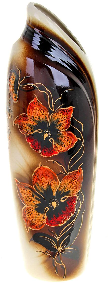Ваза Керамика ручной работы Мали, цвет: коричневый788027Не знаете чем разнообразить надоевший интерьер? Шикарная роспись этих настольных ваз впишется в любое помещение. Подарите такую вазу близкому человеку на любой праздник, и он останется доволен.