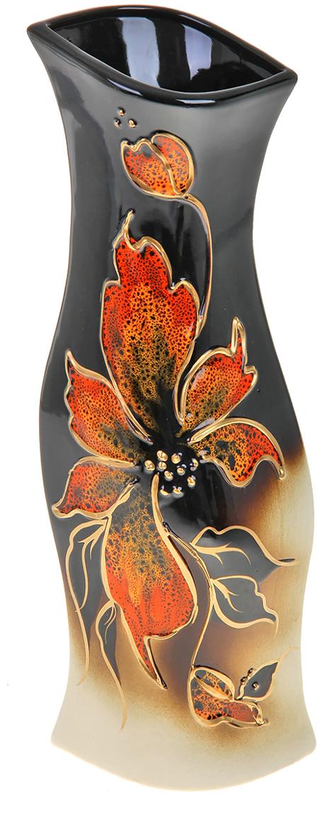 Ваза Керамика ручной работы Натали, цвет: черный. 788038788038Не знаете чем разнообразить надоевший интерьер? Шикарная роспись этих настольных ваз впишется в любое помещение. Подарите такую вазу близкому человеку на любой праздник, и он останется доволен.