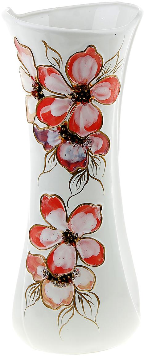"""Ваза """"Румба"""", выполненная из керамики, не только станет прекрасным элементом декора помещения, но и сохранит свежесть вашего букета на долгое время. Подобно термосу, керамические сосуды сохраняют воду прохладной даже при высокой внешней температуре. Доказано, в керамической вазе цветы стоят почти в 2 раза дольше."""