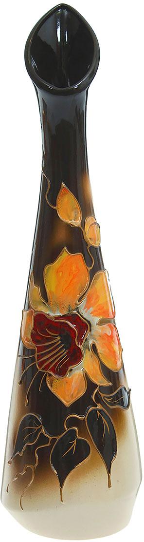 Ваза Керамика ручной работы Стрела, цвет: черный. 788049788049Ваза из керамики не только станет прекрасным элементом декора помещения, но и сохранит свежесть вашего букета на долгое время. Подобно термосу, керамические сосуды сохраняют воду прохладной даже при высокой внешней температуре. Доказано, в керамической вазе цветы стоят почти в 2 раза дольше.