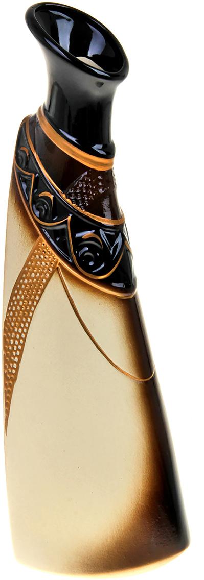 Ваза Керамика ручной работы Тикорам, цвет: коричневый788053Ваза из керамики не только станет прекрасным элементом декора помещения, но и сохранит свежесть вашего букета на долгое время. Подобно термосу, керамические сосуды сохраняют воду прохладной даже при высокой внешней температуре. Доказано, в керамической вазе цветы стоят почти в 2 раза дольше.