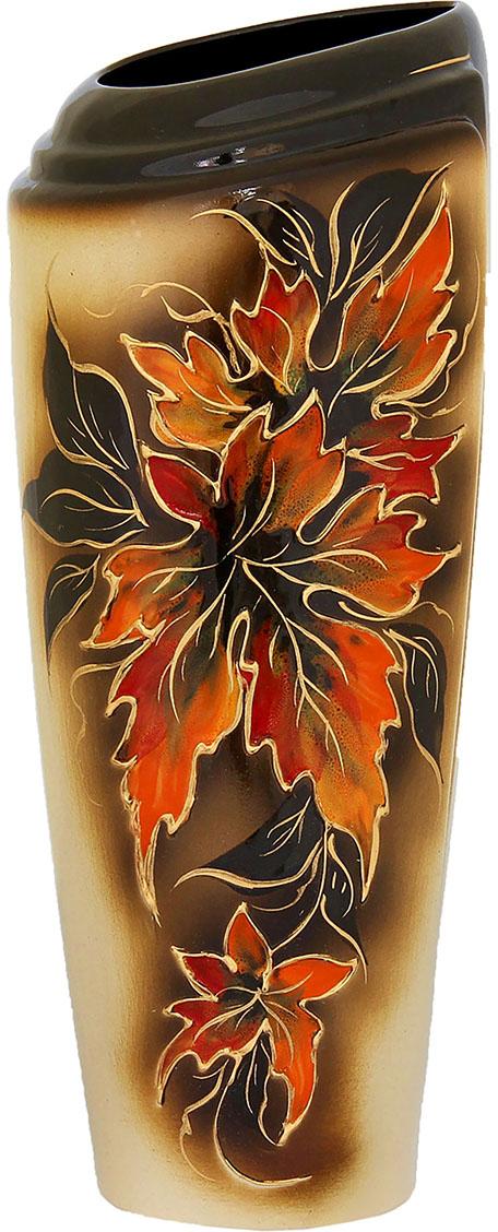 Ваза Керамика ручной работы Эмма, цвет: коричневый. 788055788055Ваза из керамики не только станет прекрасным элементом декора помещения, но и сохранит свежесть вашего букета на долгое время. Подобно термосу, керамические сосуды сохраняют воду прохладной даже при высокой внешней температуре. Доказано, в керамической вазе цветы стоят почти в 2 раза дольше.