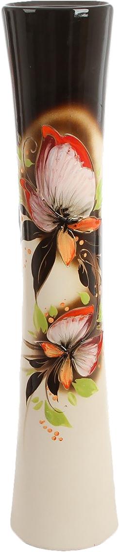Ваза напольная Керамика ручной работы Кубок, цвет: белый. 790242790242Красивые большие напольные вазы озаряют помещение элегантностью и создают неповторимый уют. Ваза напольная Кубок бело-чёрная станет стильным акцентом любого интерьера. Вазы из керамики очень прочны и долговечны. Покупая эту вазу домой или в подарок близким, вы можете быть уверены, что она прослужит ещё ни одному будущему поколению владельцев.