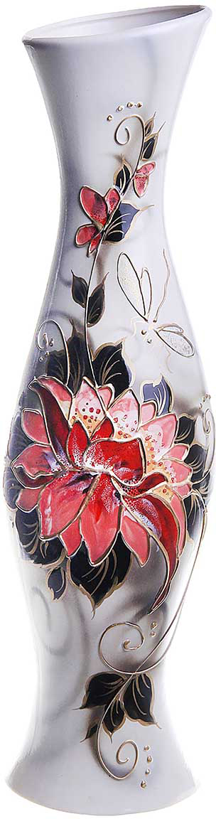 Ваза напольная Керамика ручной работы Натали, цвет: белый, большая794773Это ваза - отличный способ подчеркнуть общий стиль интерьера. Существует множество причин иметь такой предмет дома. Вот лишь некоторые из них: Формирование праздничного настроения. Можно украсить вазу к Новому году гирляндой, тюльпанами на 8 марта, розами на день Святого Валентина, вербой на Пасху. За счёт того, что это заметный элемент интерьера, вы легко и быстро создадите во всём доме праздничное настроение. Заполнение углов, подиумов, ниш. Таким образом можно сделать обстановку более уютной и многогранной. Создание групповой композиции. Если позволяет площадь пространства, разместите несколько ваз так, чтобы они сочетались по стилю или цветовому решению. Это придаст обстановке более завершённый вид. Подходящая форма и стиль этого предмета подчеркнут достоинства дизайна квартиры. Ваза может стать отличным подарком по любому поводу, ведь такой элемент интерьера практичен и способен каждый день создавать хорошее настроение!