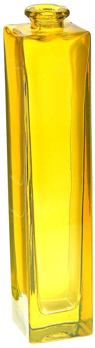 Ваза Evis Нарцисс, цвет: желтый, 0,45 л798723Ваза - не просто сосуд для букета, а украшение убранства. Поставьте в неё цветы или декоративные веточки, и эффектный интерьерный акцент готов! Стеклянный аксессуар добавит помещению лёгкости. Ваза Нарцисс жёлтая, прозрачная, 0,45 л преобразит пространство и как самостоятельный элемент декора. Наполните интерьер уютом! Каждая ваза выдувается мастером. Второй точно такой же не встретить. А случайный пузырёк воздуха или застывшая стеклянная капелька на горлышке лишь подчёркивают её уникальность.