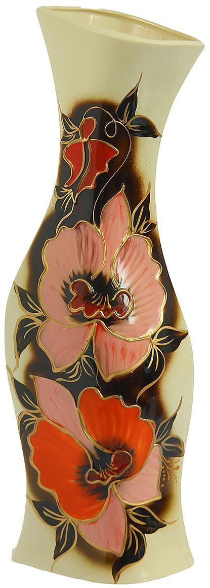 Ваза Керамика ручной работы Натали, цвет: коричневый. 825228825228Не знаете чем разнообразить надоевший интерьер? Шикарная роспись этих настольных ваз впишется в любое помещение. Подарите такую вазу близкому человеку на любой праздник, и он останется доволен.