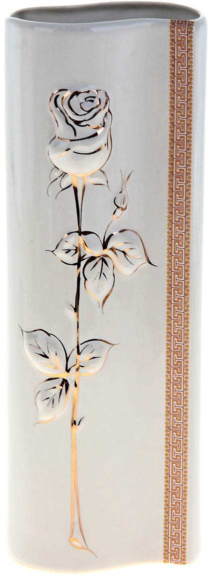 """Ваза """"Роза"""", выполненная из керамики, не только станет прекрасным элементом декора помещения, но и сохранит свежесть вашего букета на долгое время. Подобно термосу, керамические сосуды сохраняют воду прохладной даже при высокой внешней температуре. Доказано, в керамической вазе цветы стоят почти в 2 раза дольше."""
