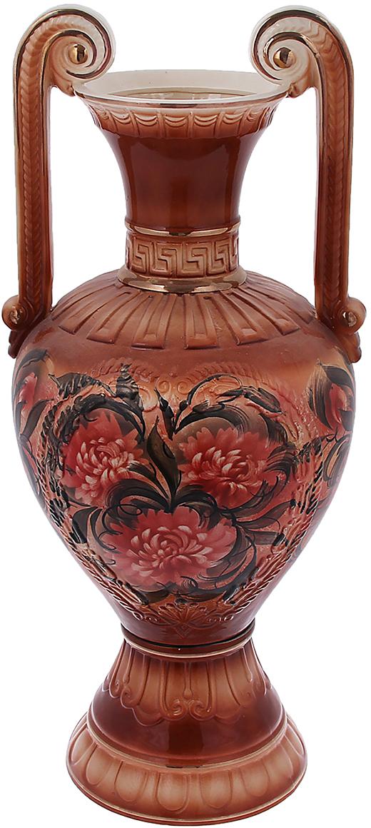 Ваза напольная Керамика ручной работы Афина, цвет: коричневый828810Напольная керамическая ваза – запоминающийся и броский акцент в вашем доме. Она добавит элегантности в интерьер и сделает его неповторимым. Кроме того, напольная ваза - шикарный подарок для настоящего эстета. Керамика – прекрасный материал для изготовления ваз. Ваза напольная Афина хризантемы, коричневая прочная и долговечная. Её очень сложно разбить или расколоть. Перед вами отличное сочетание «цена-качество».