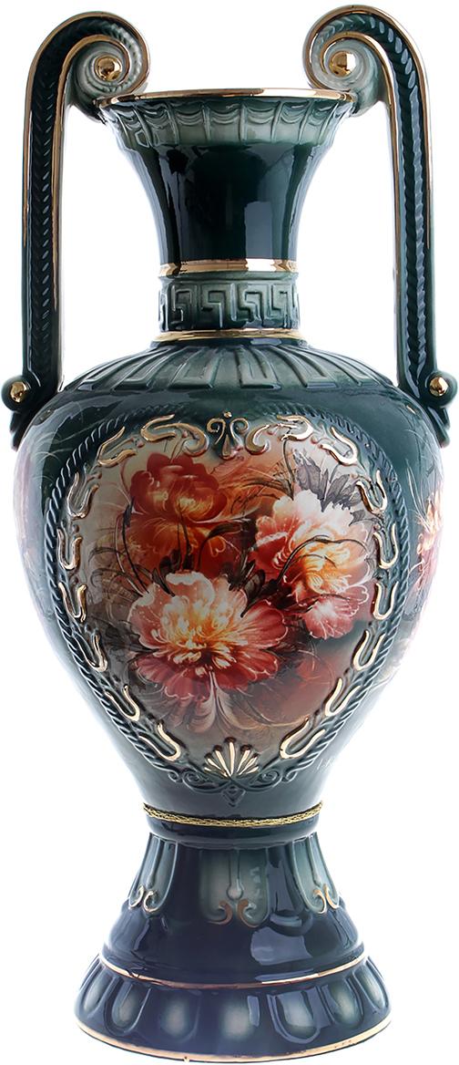 Ваза напольная Керамика ручной работы Афина, цвет: зеленый828814Напольная керамическая ваза – запоминающийся и броский акцент в вашем доме. Она добавит элегантности в интерьер и сделает его неповторимым. Кроме того, напольная ваза - шикарный подарок для настоящего эстета. Керамика – прекрасный материал для изготовления ваз. Ваза напольная Афина пион, зелёная прочная и долговечная. Её очень сложно разбить или расколоть. Перед вами отличное сочетание «цена-качество».