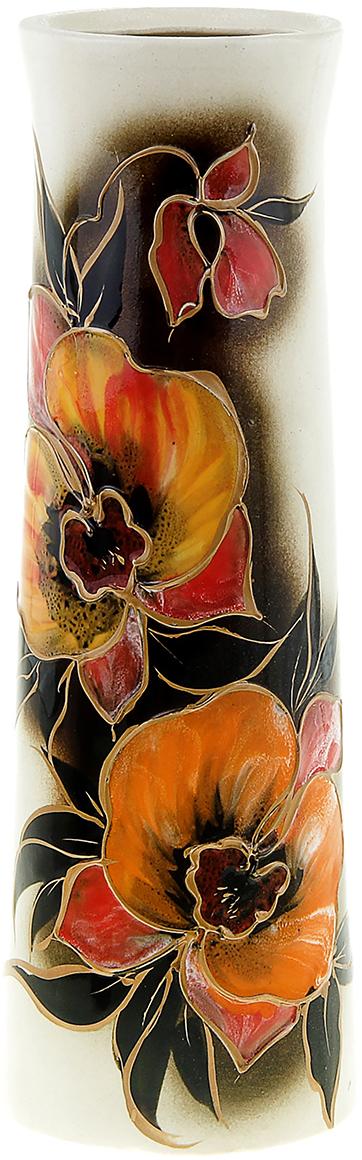 Ваза Керамика ручной работы Элита, цвет: черный835416Не знаете чем разнообразить надоевший интерьер? Шикарная роспись этих настольных ваз впишется в любое помещение. Подарите такую вазу близкому человеку на любой праздник, и он останется доволен.